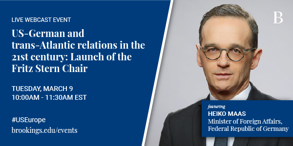 US-German and trans-Atlantic relations in the 21st century: Launch of the Fritz Stern Chair
