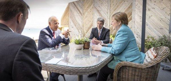 Merkel meets Biden on sidelines of G7 summit